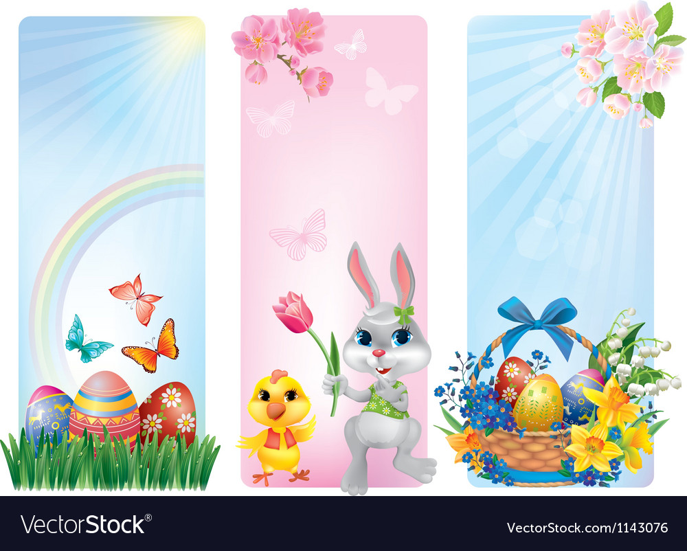 Banners for easter vector | Price: 3 Credit (USD $3)