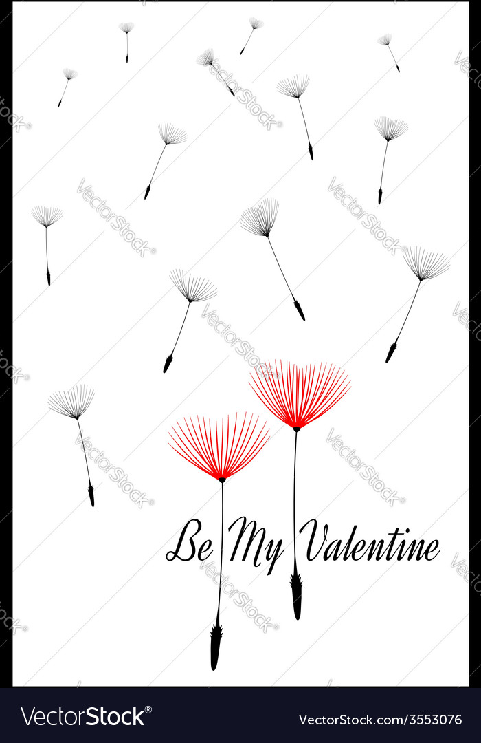 Be my valentine valentines day card vector | Price: 1 Credit (USD $1)