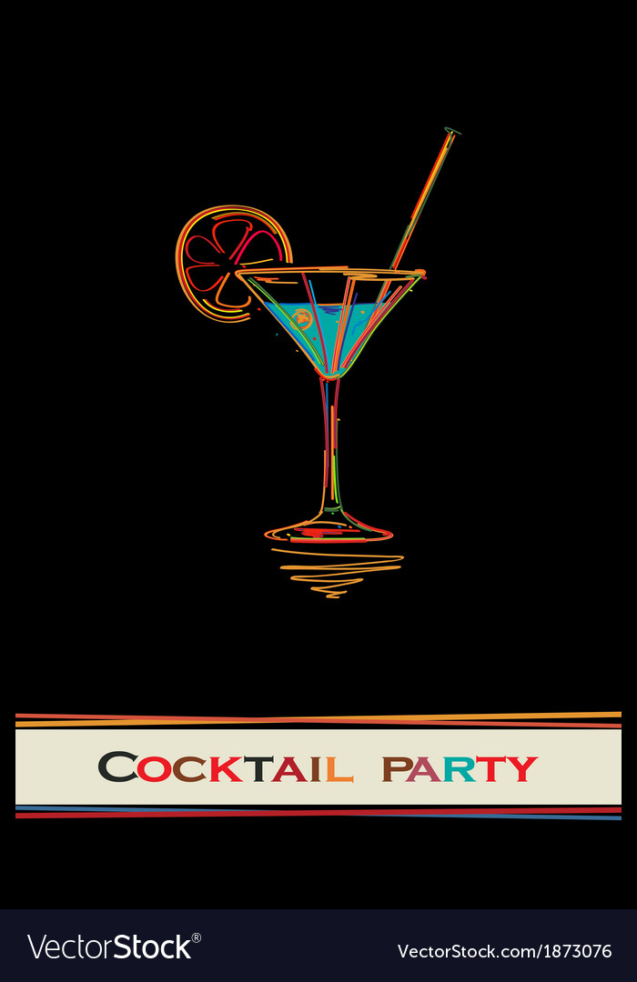Cocktail party card vector | Price: 1 Credit (USD $1)