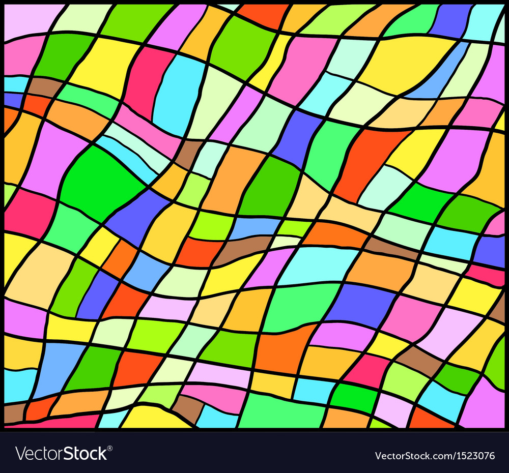 Eps 10 colorful contrast vitrage background vector