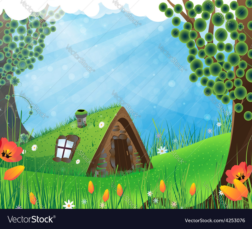 Fairy house vector | Price: 3 Credit (USD $3)