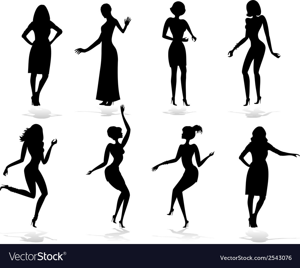 Female silhouette set vector | Price: 1 Credit (USD $1)