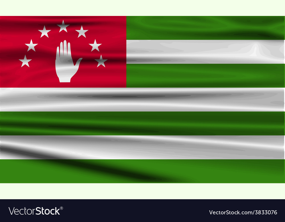 Flag of abkhazia with old texture vector | Price: 1 Credit (USD $1)
