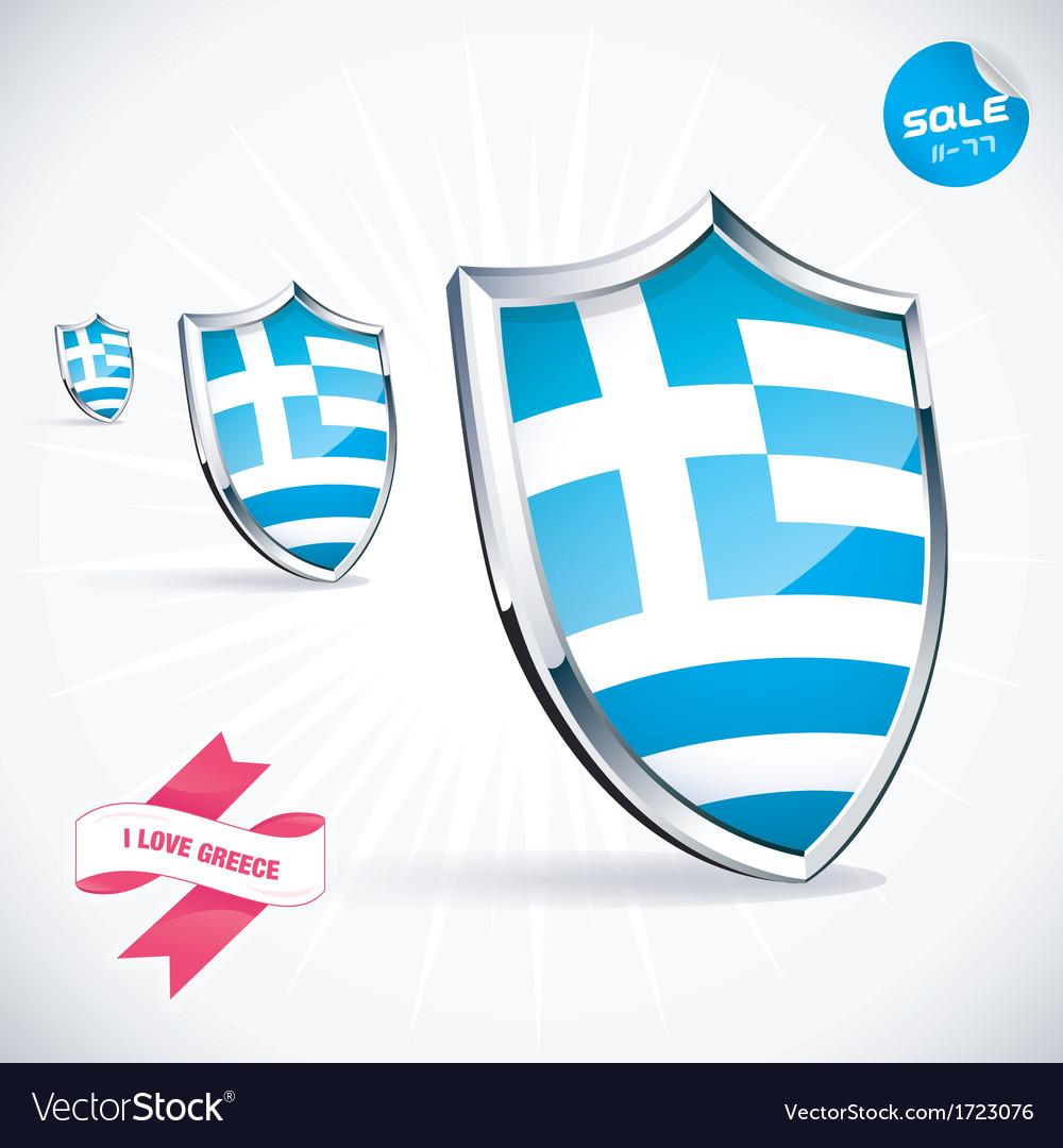 I love greece flag vector | Price: 1 Credit (USD $1)