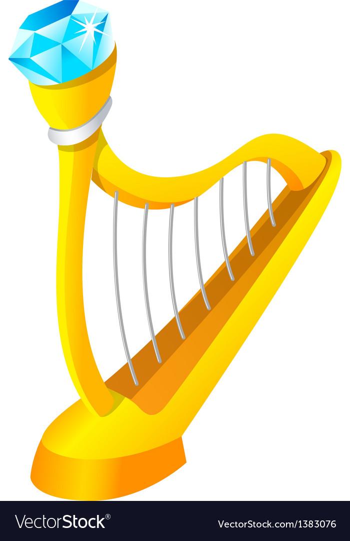 Icon harp vector | Price: 1 Credit (USD $1)