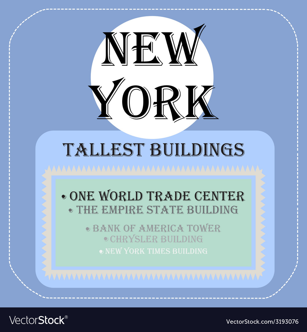 New york tallest buildings icon flat vector | Price: 1 Credit (USD $1)