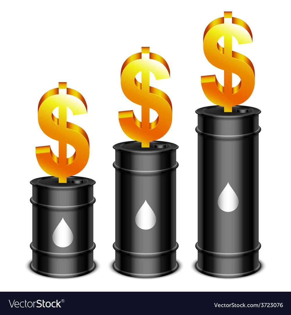 Oil barrels and dollar vector | Price: 1 Credit (USD $1)