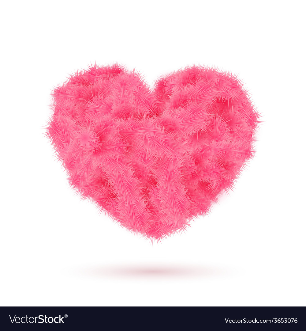 Pink fur heart for your valentine design vector | Price: 1 Credit (USD $1)