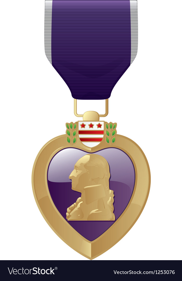 Purple heart vector | Price: 1 Credit (USD $1)