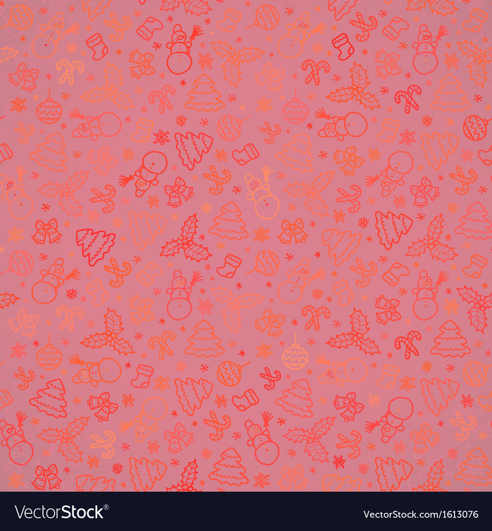 Red christmas paper seamless pattern vector | Price: 1 Credit (USD $1)