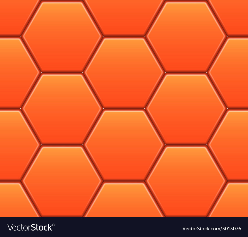 Seamless pattern with orange hexahedron puzzles vector | Price: 1 Credit (USD $1)