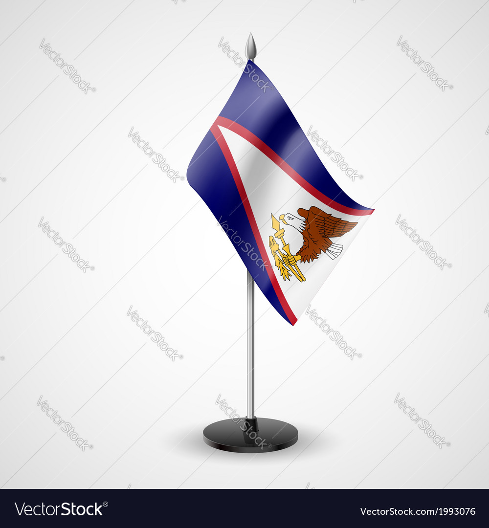 Table flag of american samoa vector | Price: 1 Credit (USD $1)