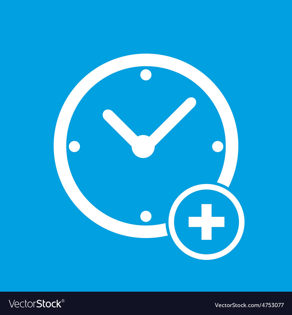 Add time icon vector | Price: 1 Credit (USD $1)