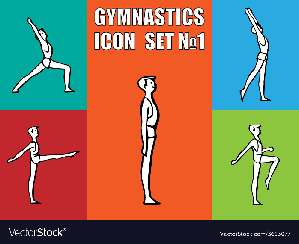 Boy doing morning exercises vector   Price: 1 Credit (USD $1)