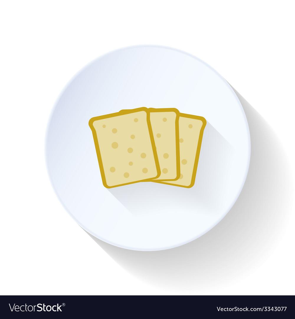 Bread flat icon vector | Price: 1 Credit (USD $1)