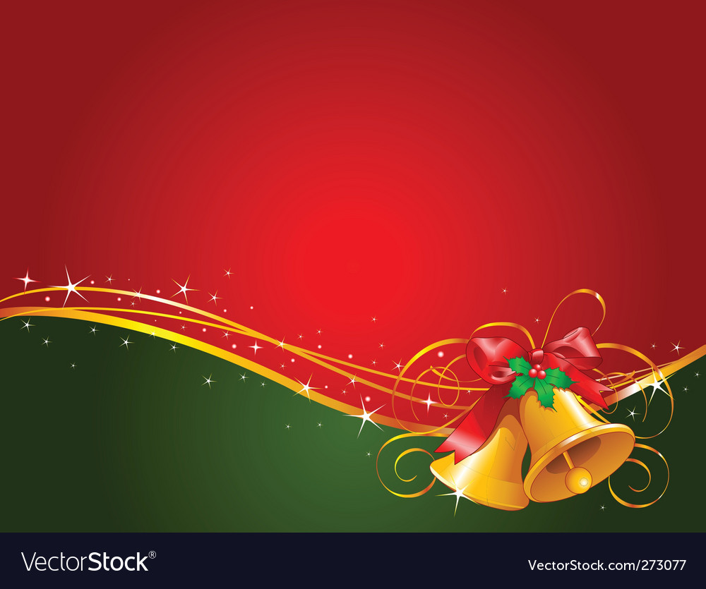 Christmas bells background vector | Price: 1 Credit (USD $1)