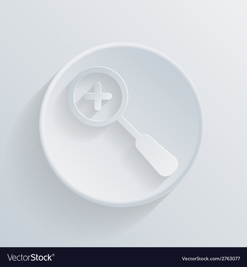 Circle icon with a shadow magnifier increase vector | Price: 1 Credit (USD $1)