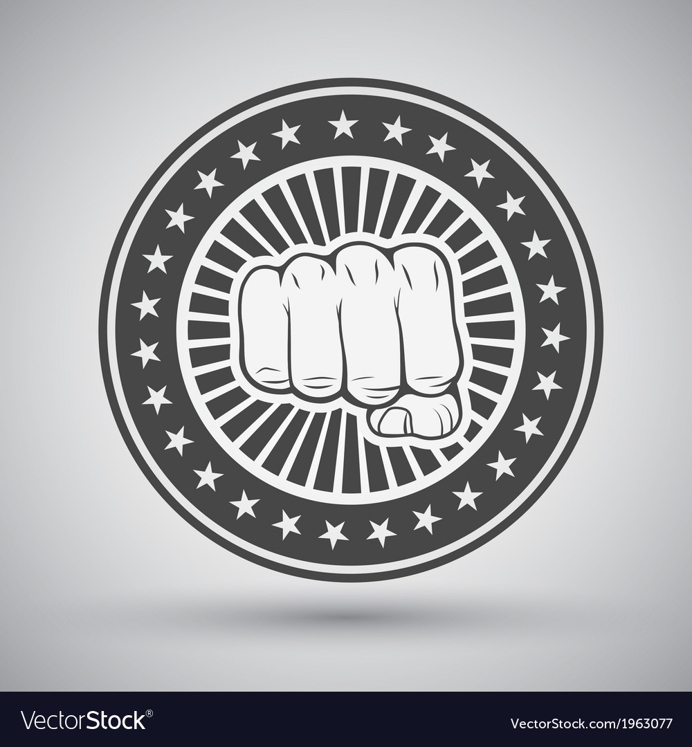 Clenched fist icon vector | Price: 1 Credit (USD $1)