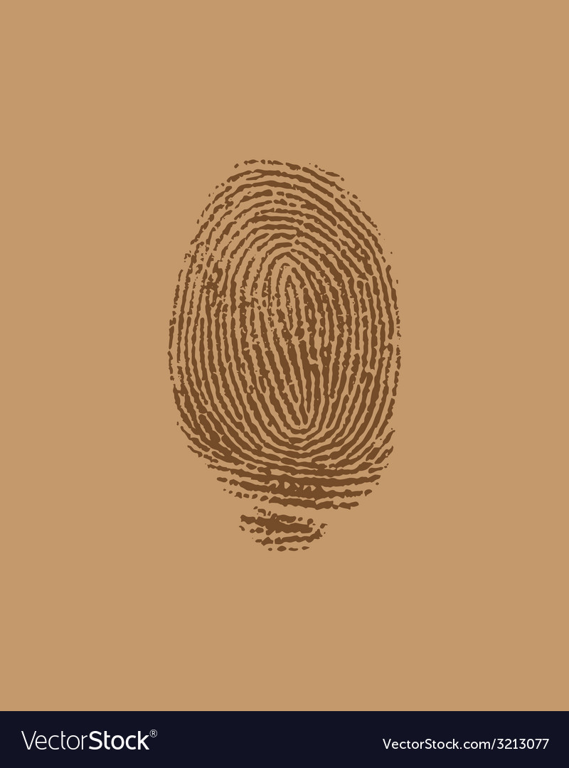 Finger brown vector | Price: 1 Credit (USD $1)