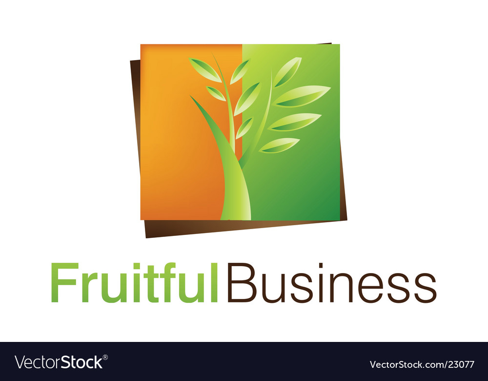 Fruitful business logo vector | Price: 1 Credit (USD $1)