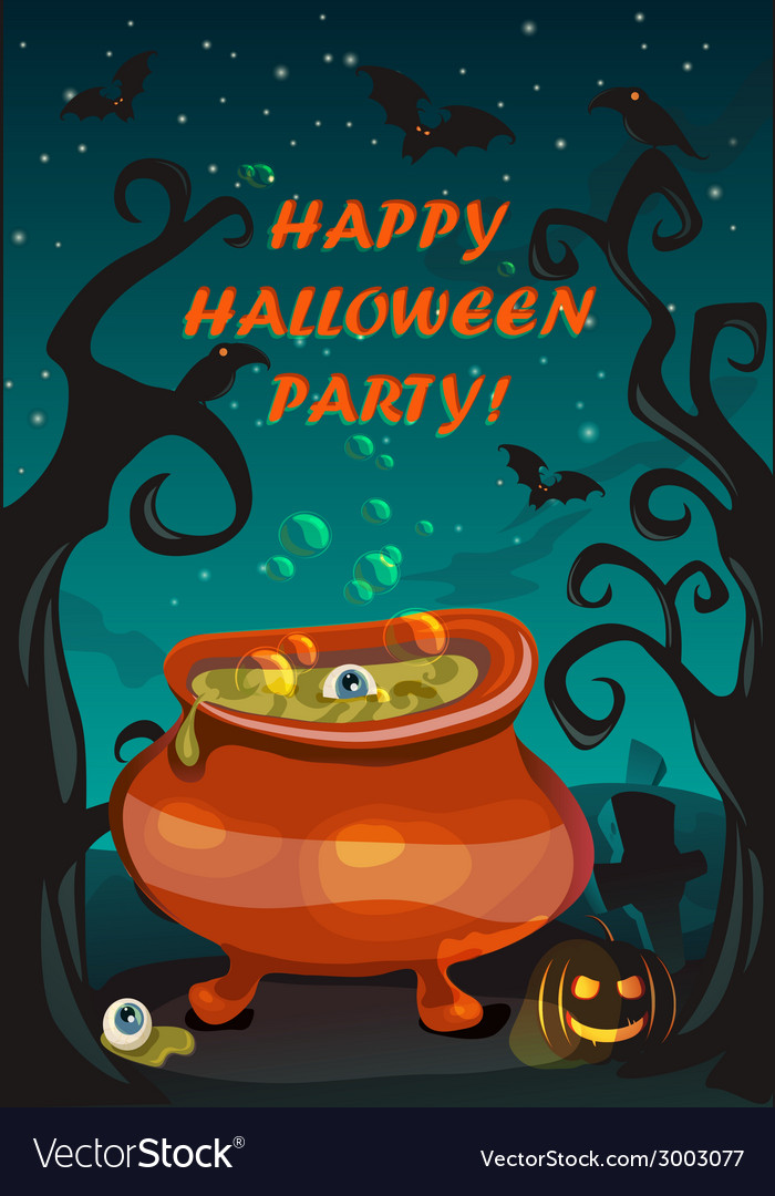 Happy halloween poster vector | Price: 3 Credit (USD $3)