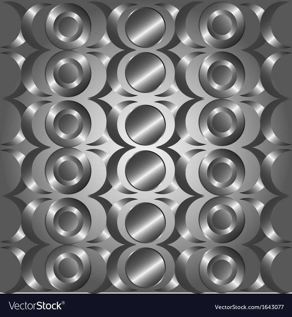 Metal circle rings pattern vector | Price: 1 Credit (USD $1)