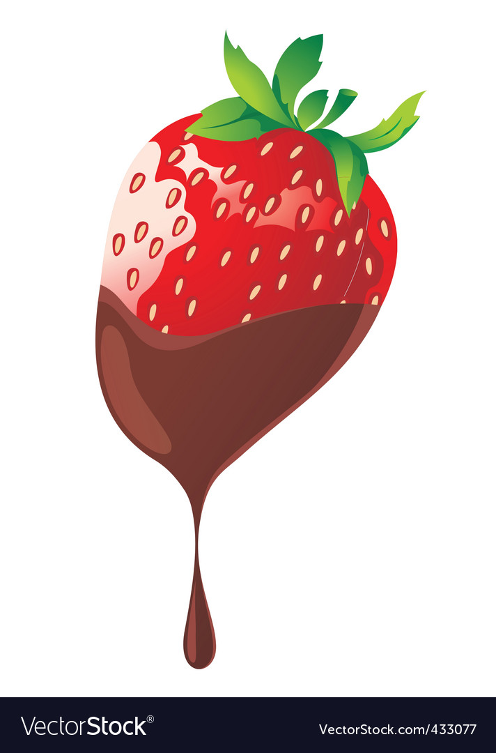 Strawberry and chocolate vector | Price: 1 Credit (USD $1)