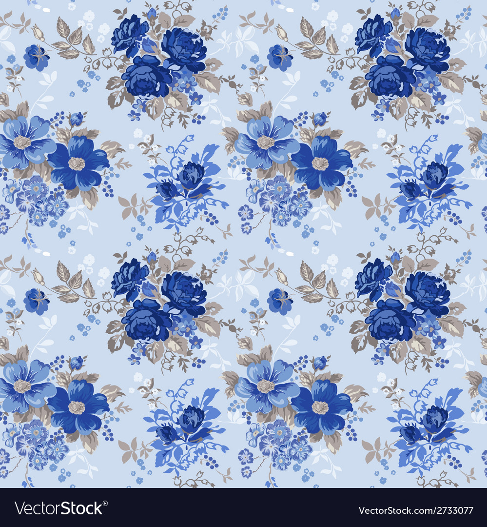 Vintage floral background - seamless pattern vector | Price: 3 Credit (USD $3)