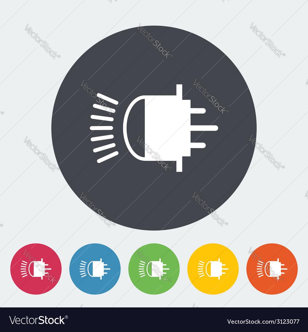 Xenon car lamp flat icon vector   Price: 1 Credit (USD $1)