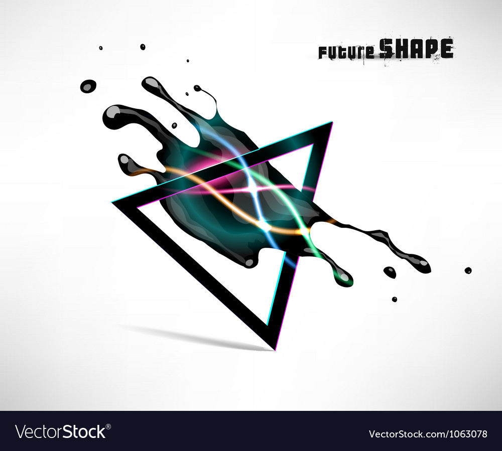 Abstract dark shape design concept vector | Price: 1 Credit (USD $1)