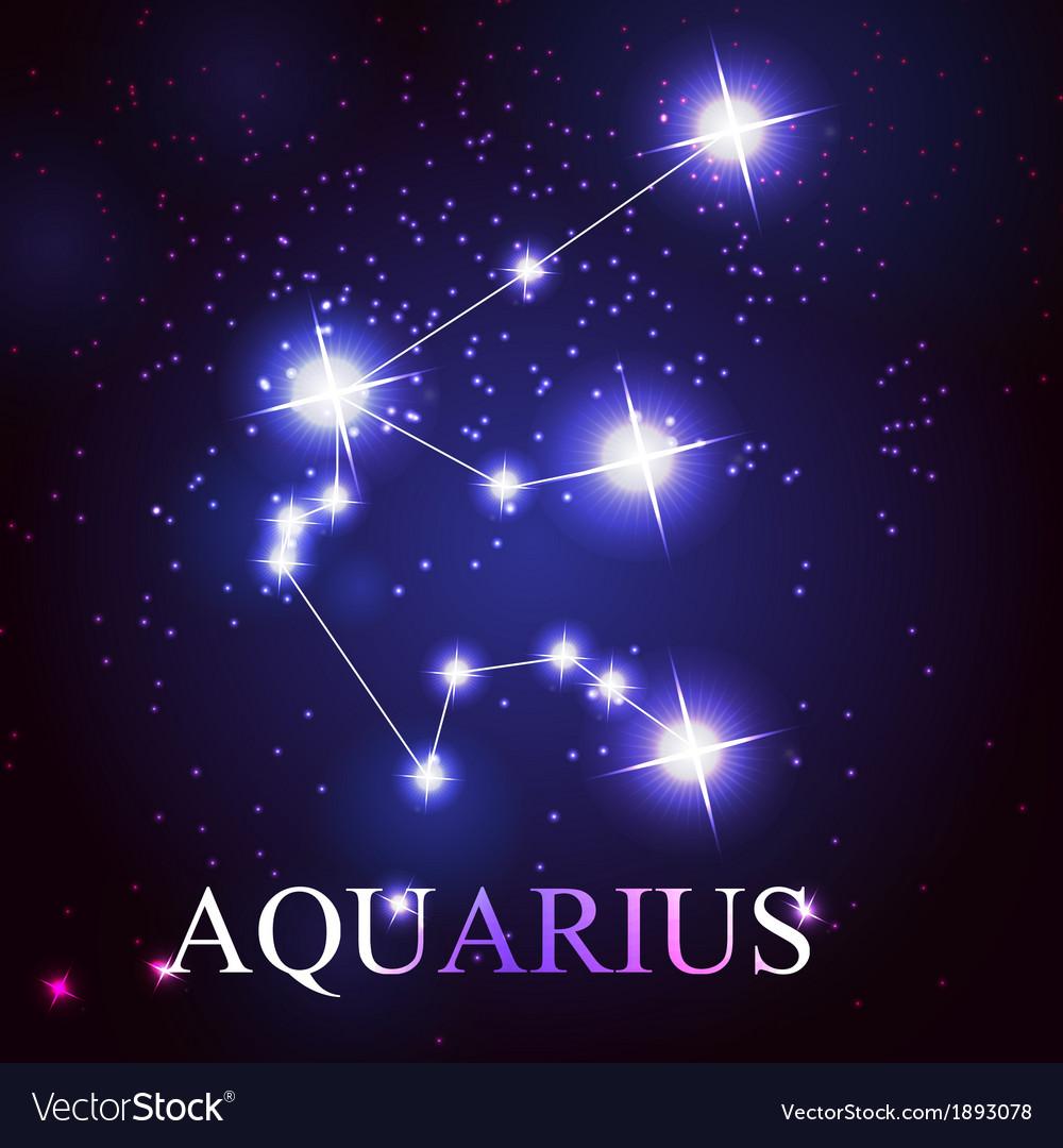The aquarius zodiac sign vector | Price: 1 Credit (USD $1)