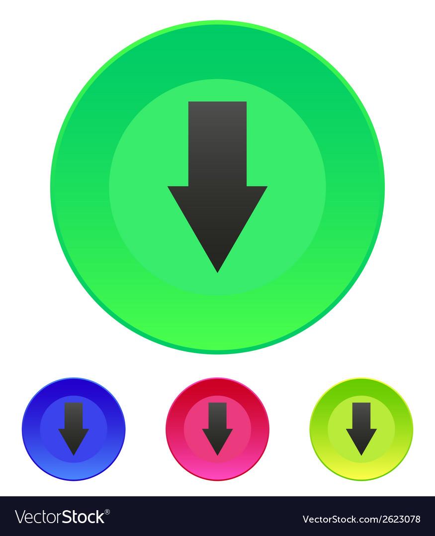 Arrow down icon vector | Price: 1 Credit (USD $1)