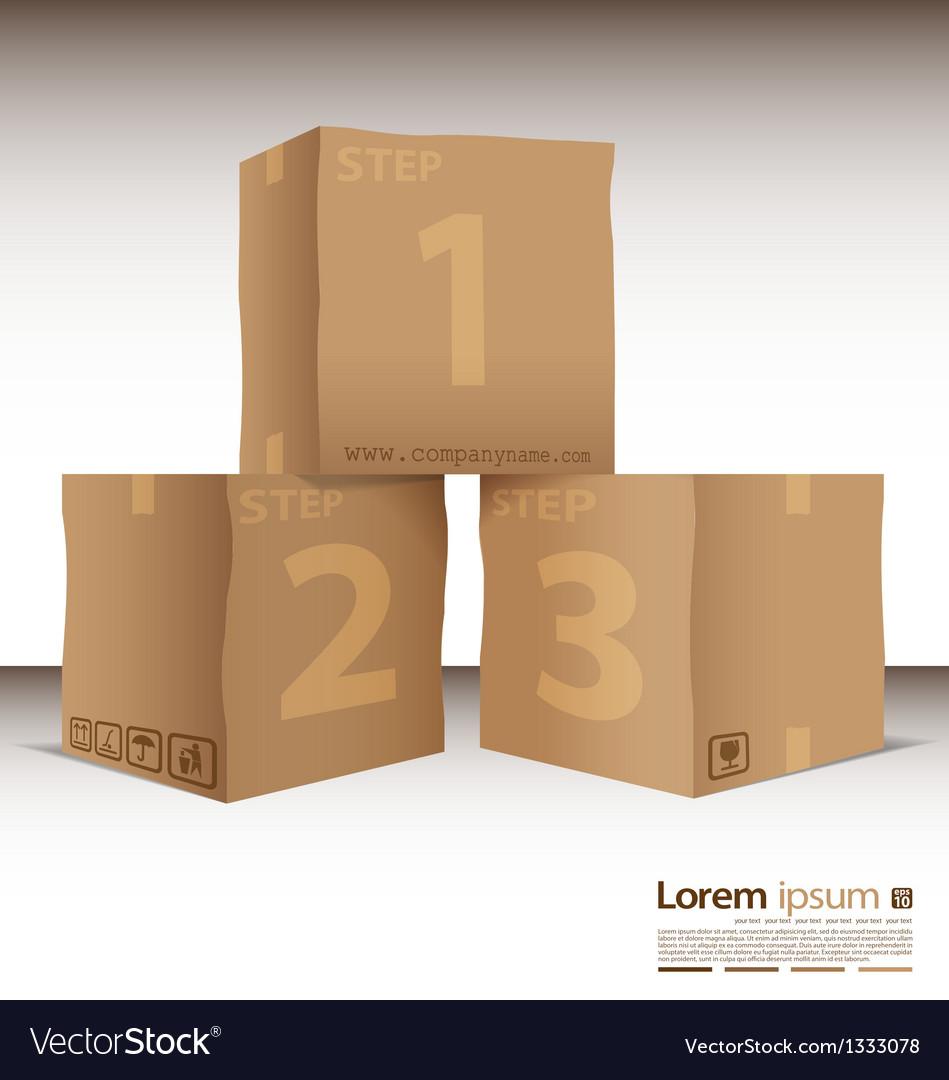 Box steps vector | Price: 1 Credit (USD $1)