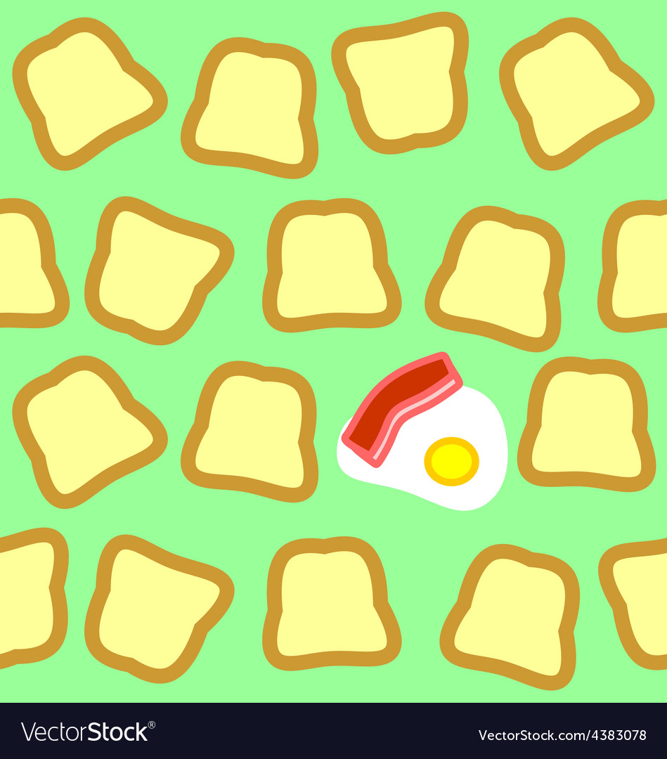 Breakfast seamless texture vector | Price: 1 Credit (USD $1)