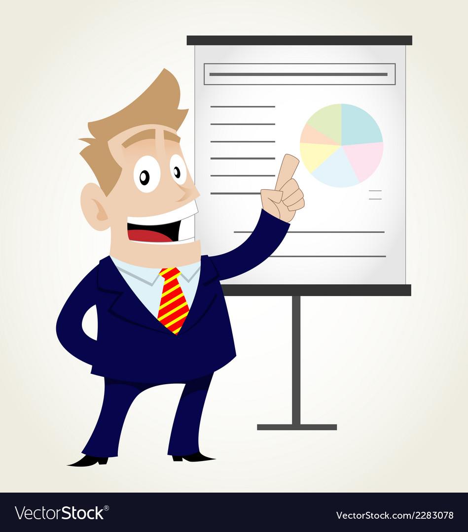 Businessman doing presentation vector   Price: 1 Credit (USD $1)