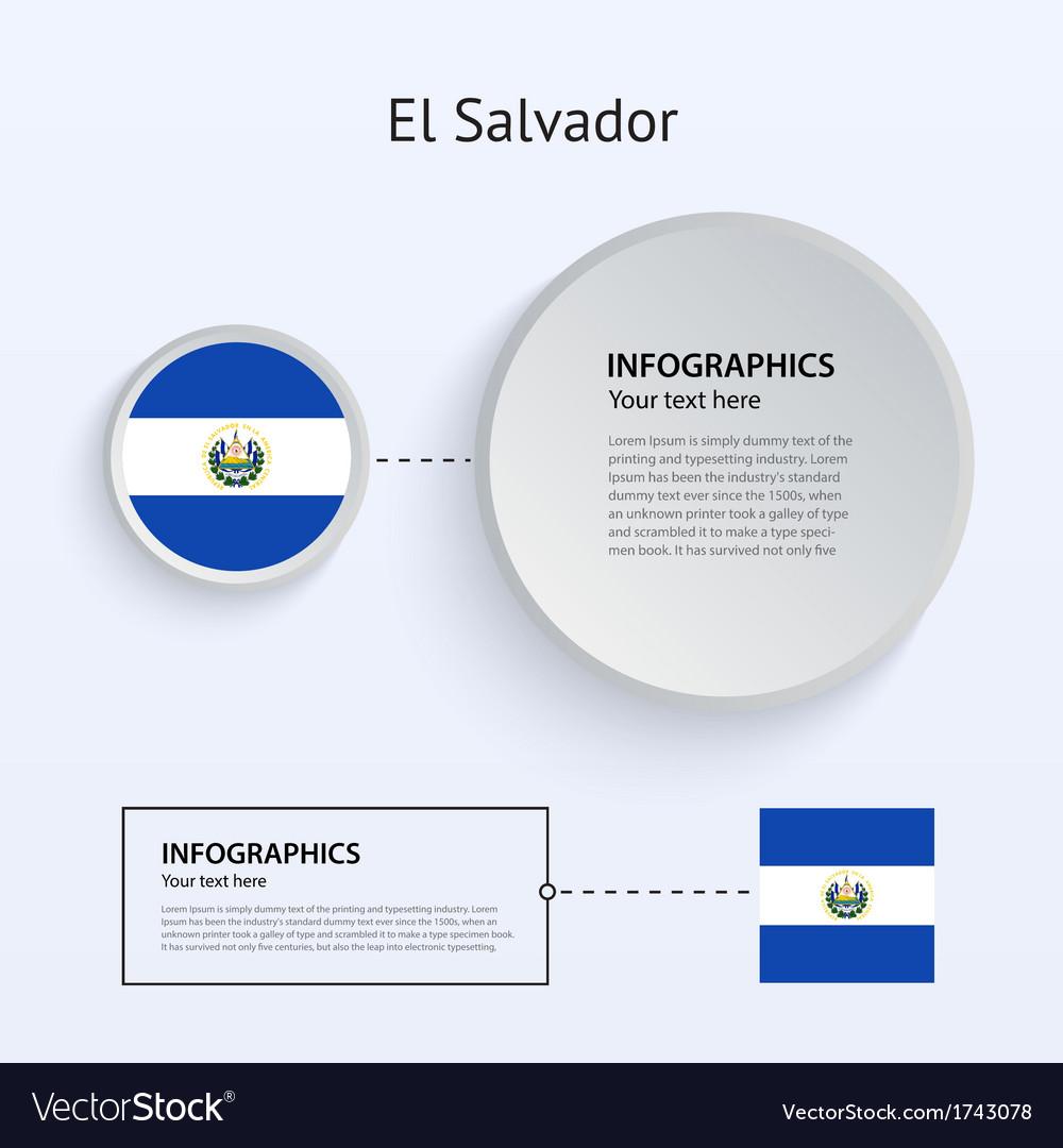 El salvador country set of banners vector | Price: 1 Credit (USD $1)