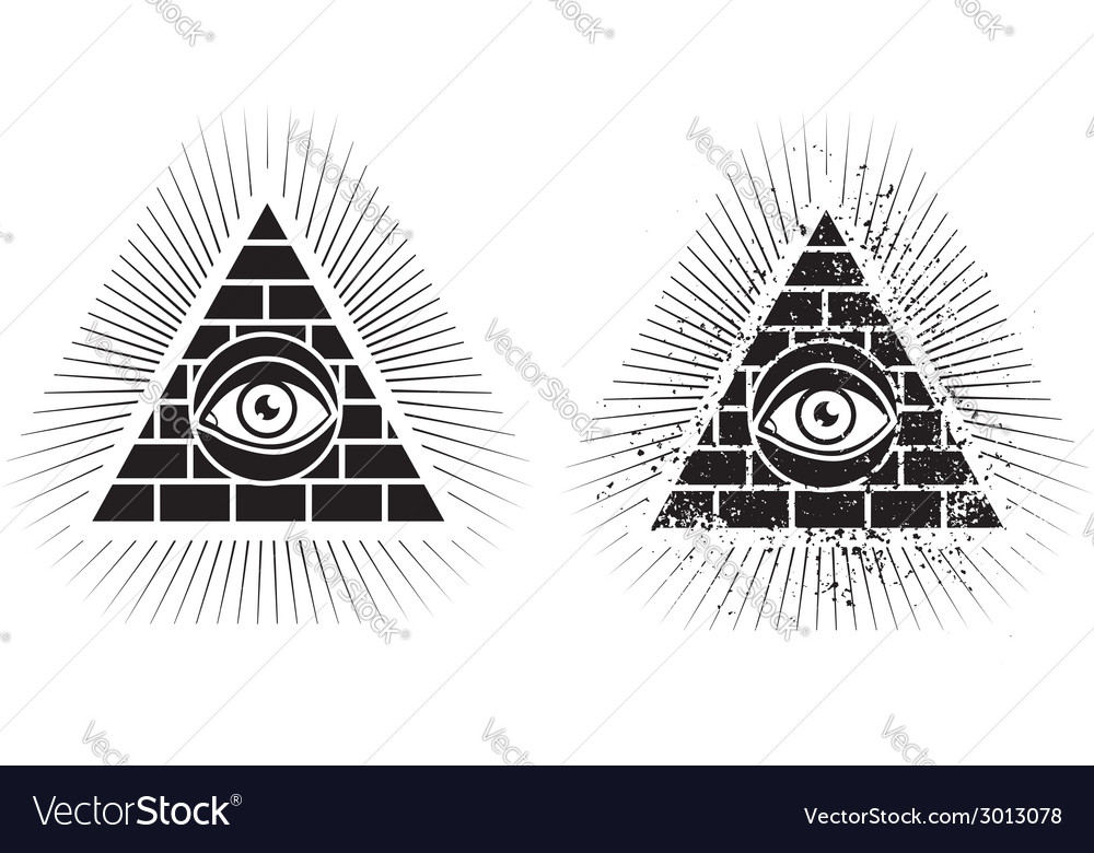 Eye pyramid icon vector | Price: 1 Credit (USD $1)