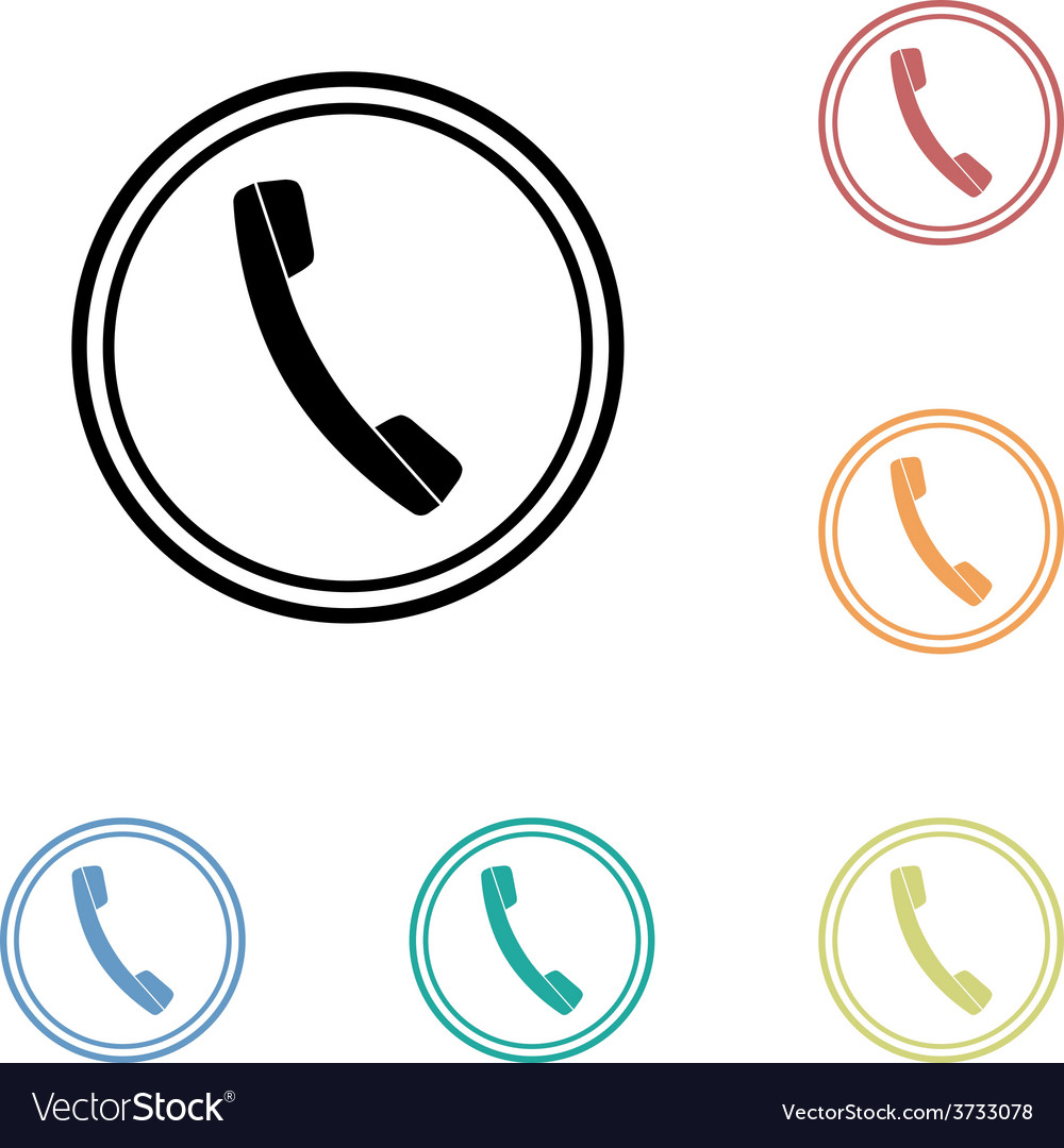 Icon of phone telephone vector | Price: 1 Credit (USD $1)