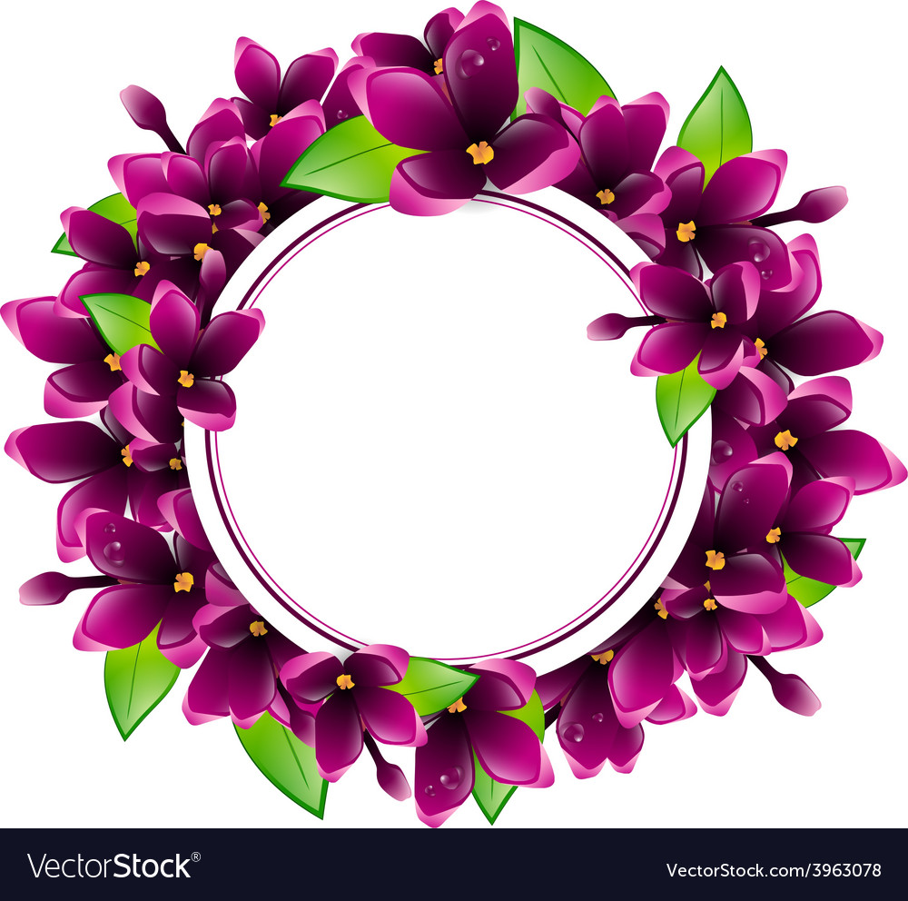 Lilac flower frame vector | Price: 1 Credit (USD $1)