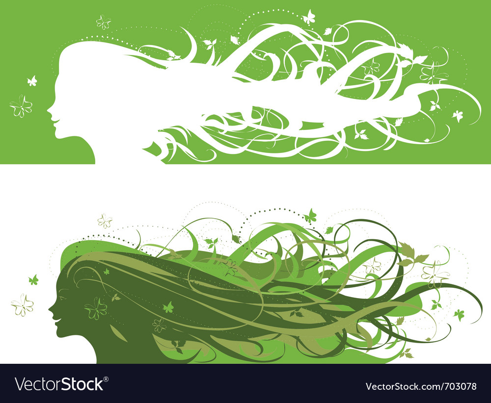 Nature girl vector | Price: 1 Credit (USD $1)