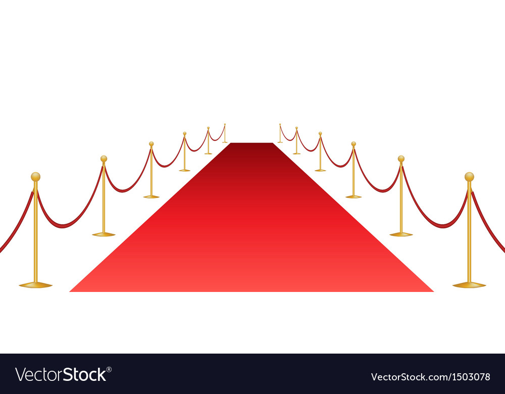 Red carpet and stantion vector | Price: 1 Credit (USD $1)