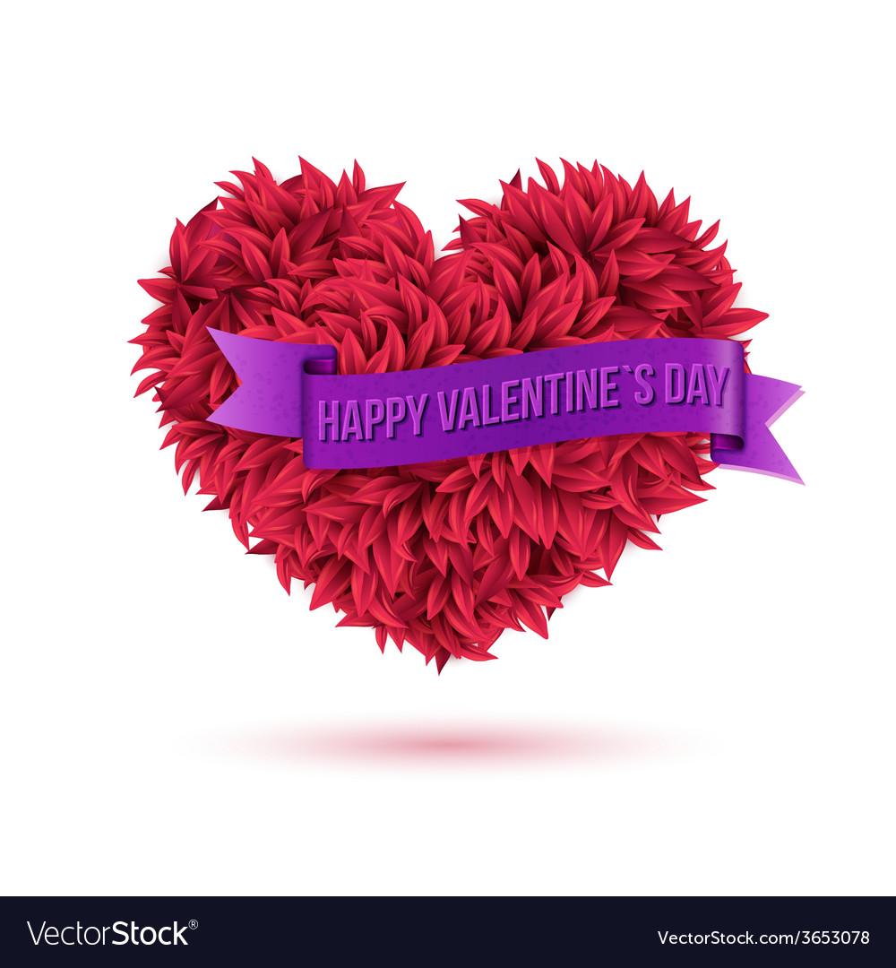 Simple happy valentines day concept vector | Price: 1 Credit (USD $1)