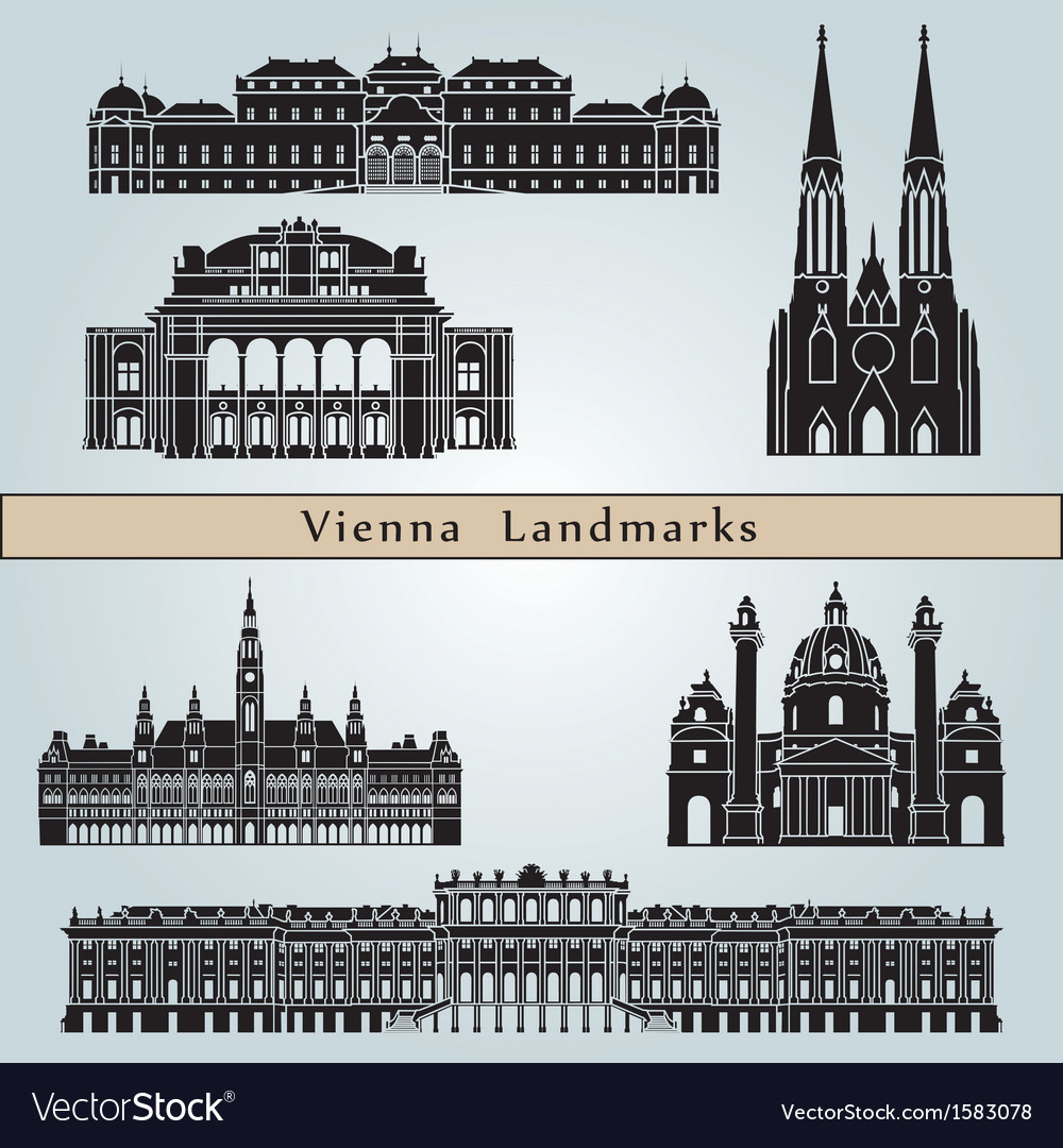 Vienna landmarks and monuments vector | Price: 1 Credit (USD $1)