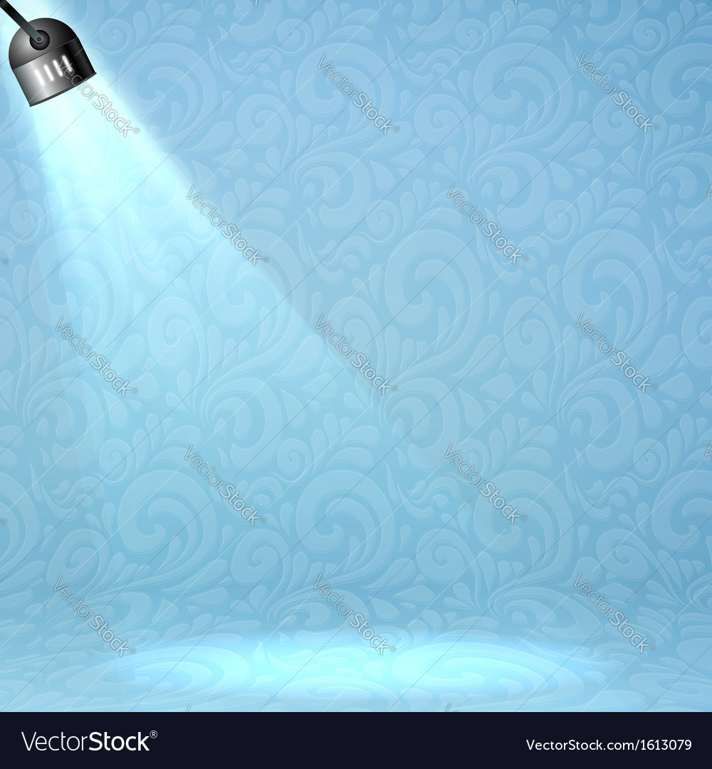 Blue floodlight on ornate background vector | Price: 1 Credit (USD $1)