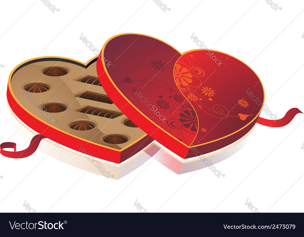 Box of chocolates vector | Price: 1 Credit (USD $1)