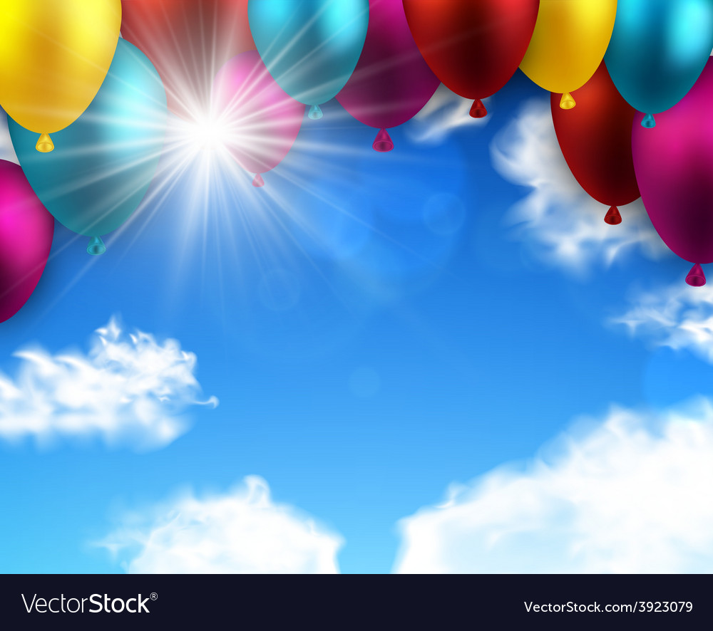 Celebrate colorful background with balloons vector | Price: 1 Credit (USD $1)