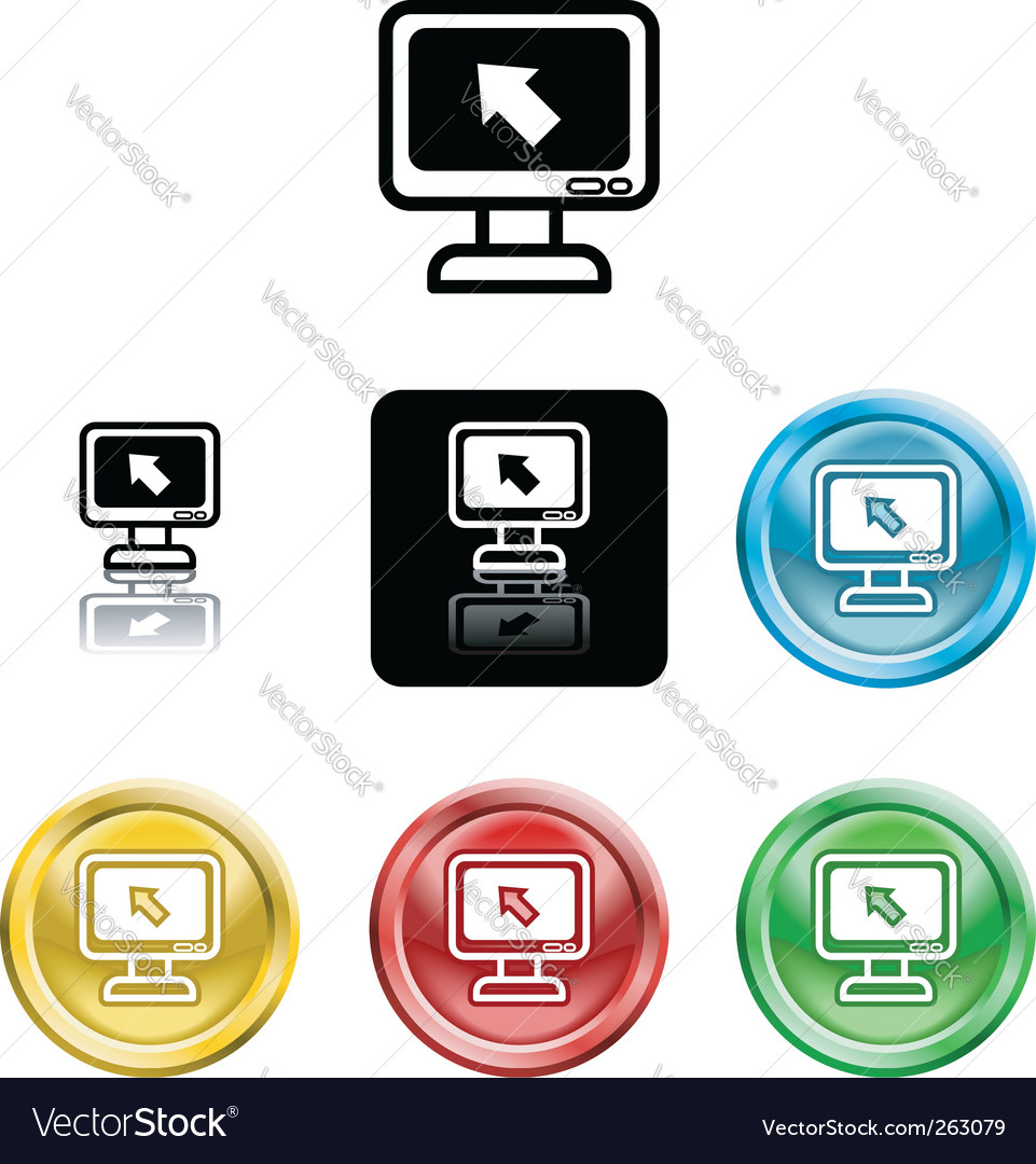 Computer monitor icon symbol vector | Price: 1 Credit (USD $1)