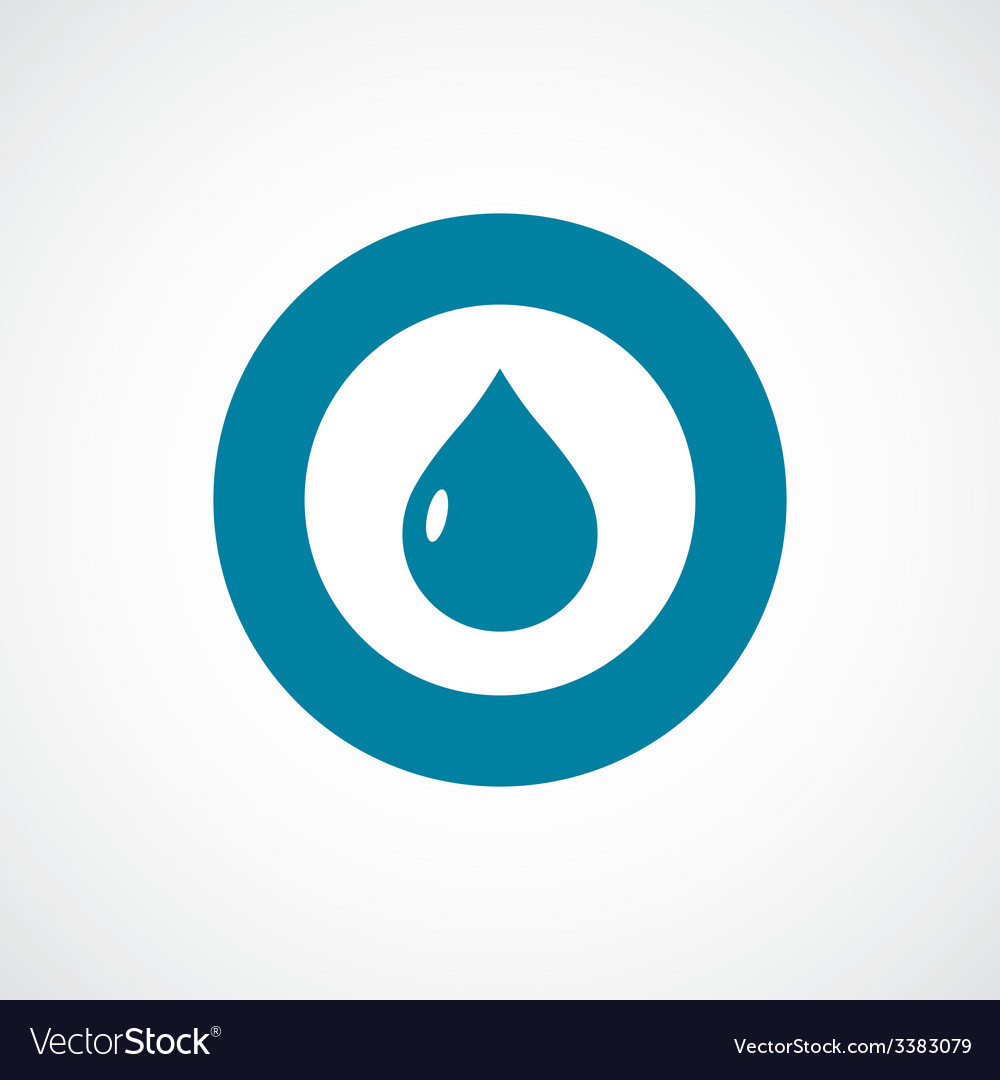 Drop bold blue border circle icon vector | Price: 1 Credit (USD $1)