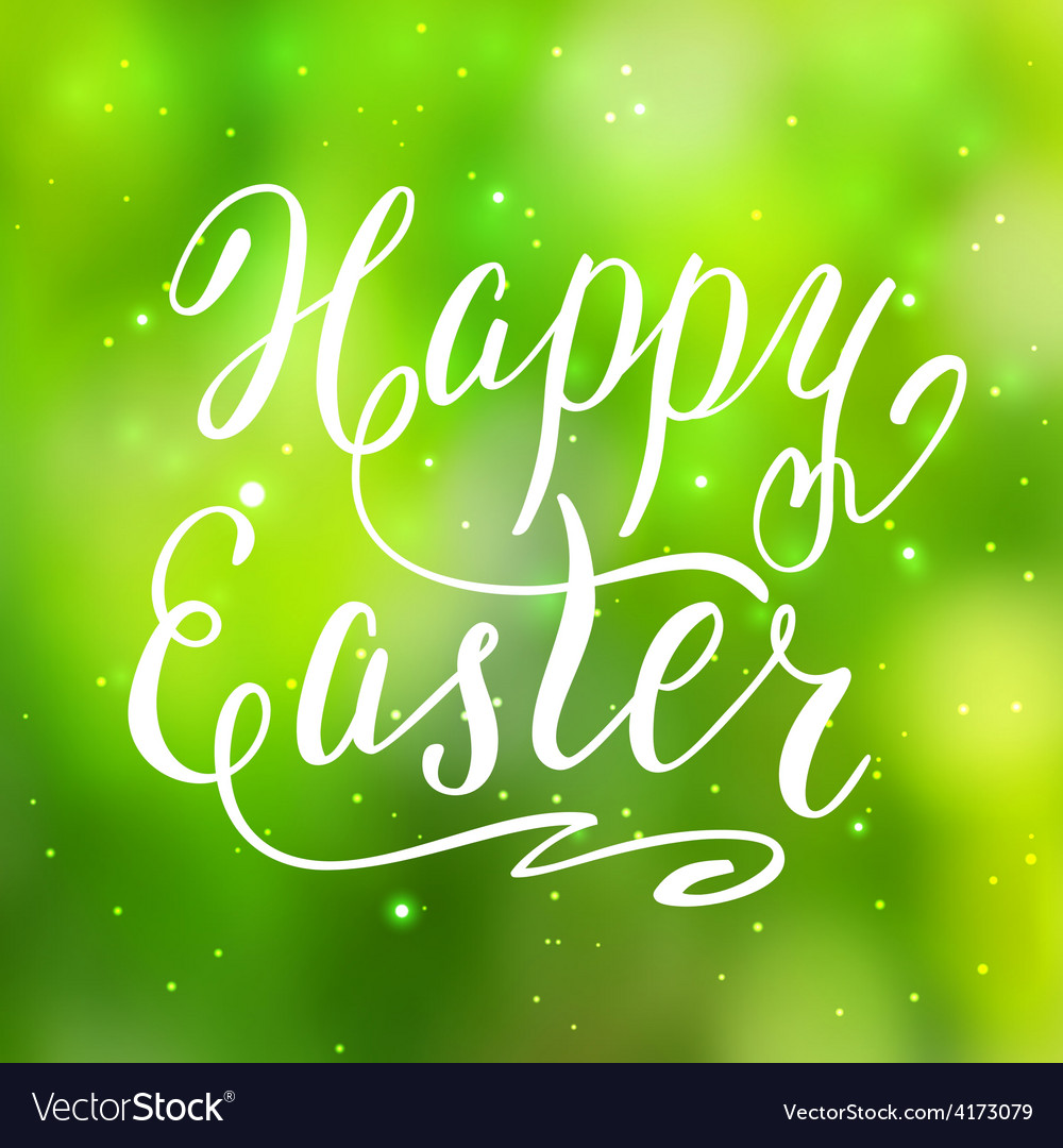 Happy easter card hand lettering vector   Price: 1 Credit (USD $1)