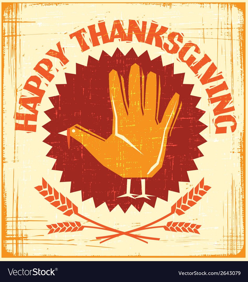 Happy thanksgiving card vector | Price: 1 Credit (USD $1)